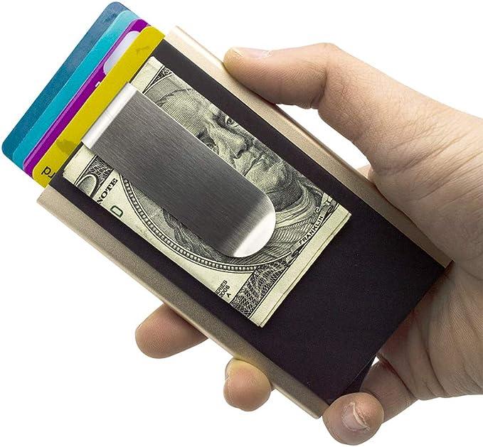 Amazon.com: Mosiyeef RFID - Tarjetero automático de piel ...