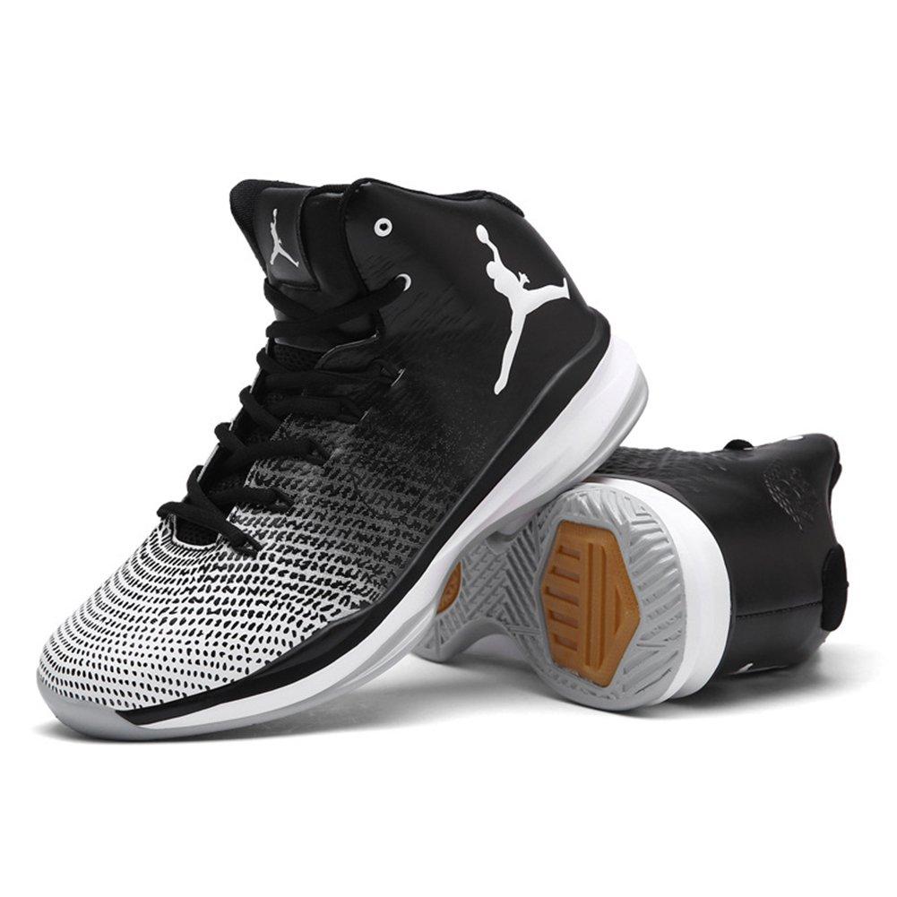 2018 Nouvelles Chaussures de Basket-Ball de Printemps Chaussures de Basket-Ball D'automne Haut-Bas Sneakers Anti-Dérapant Résistant à L'usure (Color : B, Taille : 45)