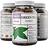 Pure Green Tea Weight Loss Supplement with EGCG Antioxidants - Natural Detox Healthy Diet Pills Boost Metabolism Burn Belly Fat Fast and Boost Energy for Men and Women - 60 Capsules by Phytoral