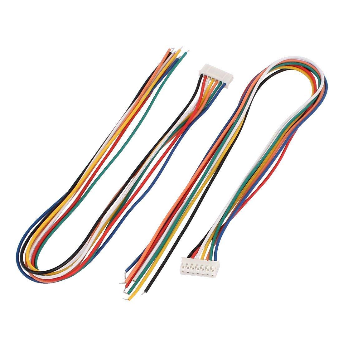 Amazon.com: eDealMax 5 piezas sola extensión Conector extremo 7P pH 2,0 Balance de alambre DE 30 cm Multicolor: Electronics