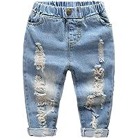 LAPLBEKE Pantalones para Niño Vaqueros 4 Bolsillos Otoño Invierno Niños De Rotos Pantalón con Cintura Elástica