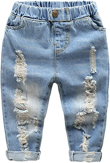 Laplbeke Pantalones Para Nino Vaqueros 4 Bolsillos Otono Invierno Ninos De Rotos Pantalon Con Cintura Elastica Amazon Es Ropa Y Accesorios