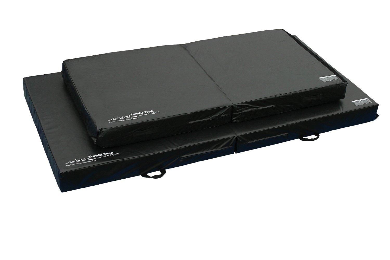 Tumbl Trak Folding Practice Mat, Black, 4ft x 8ft x 8in by Tumbl Trak (Image #1)