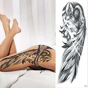 2 unids-Hombre Tatuaje Temporal Brazo Completo León Temporal Rey ...