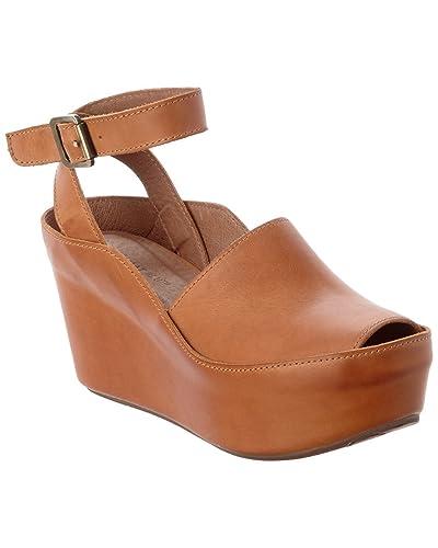 88e3bf4b2ae8 Chocolat Blu Women s Wisper Ankle Wrap Buckle Chunky Platform Wedge Sandal  (10 B(M