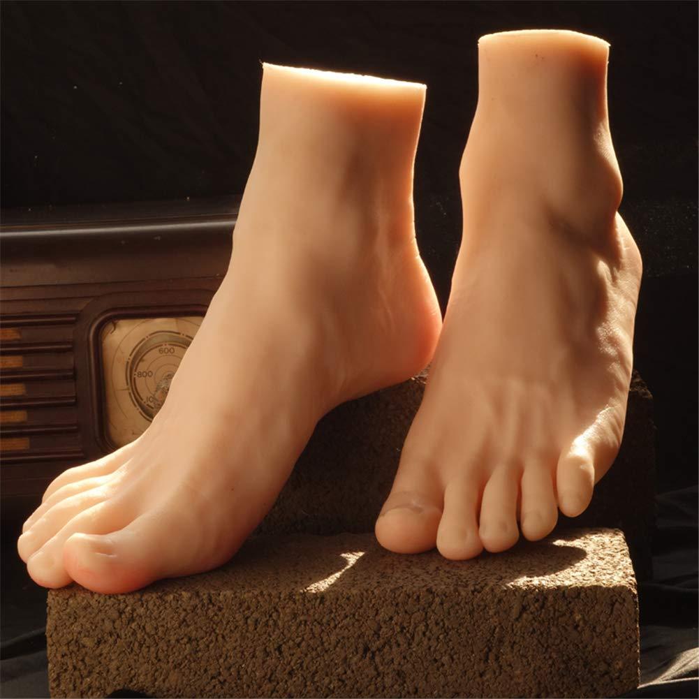 Silicone Piede Mannequin Manichino, 1 Paio Silicone Di Lifesize Uomini Indossatrice Piede Scarpe Calzino Display Modello Arte Schizzo 7865787
