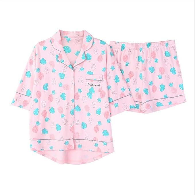 Meaeo Inicio Ropa Mujeres Pijamas De Dos Piezas Más El Tamaño De Pijama De Algodón Conjunto
