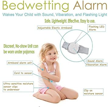Bed Alarm For Bedwetting Training Children and Kids to Stop Night Time Moisture Easy Solutions Control...