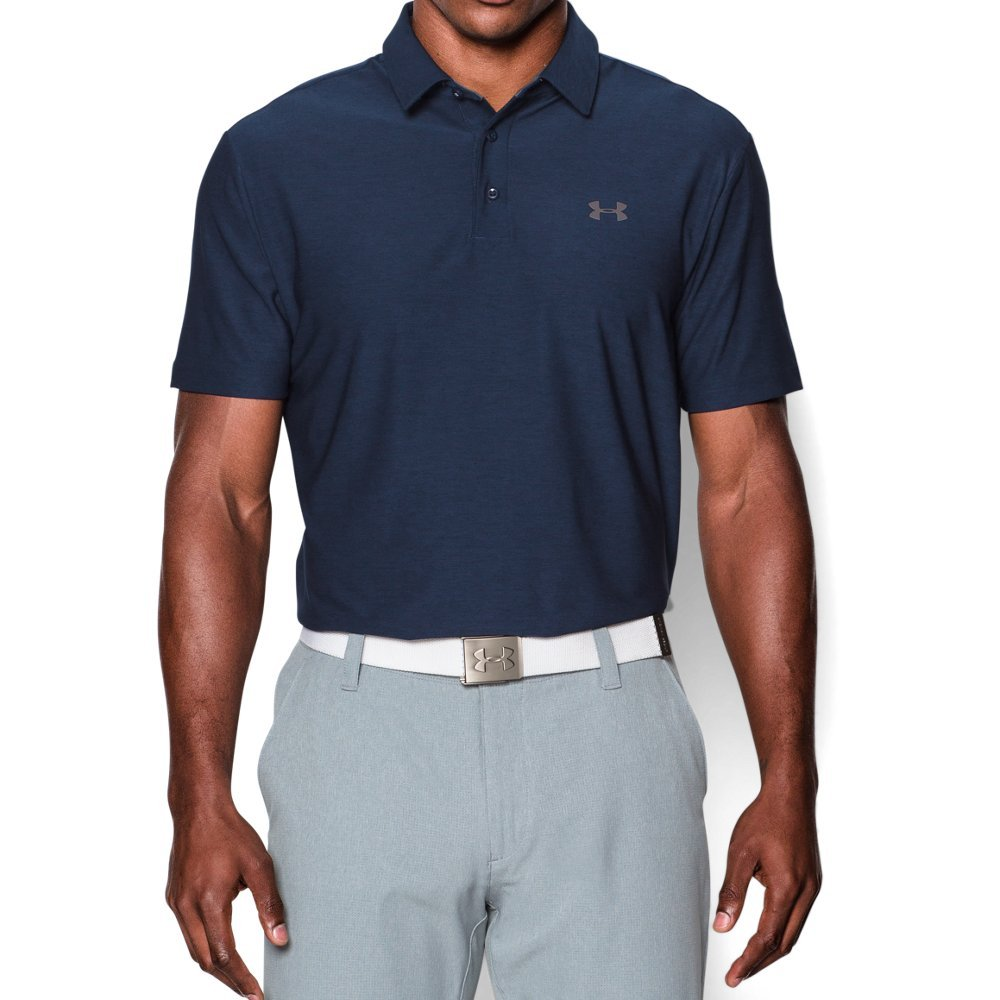 Under Armour Men's Playoff Polo, Academy (408)/Graphite, Small by Under Armour (Image #1)