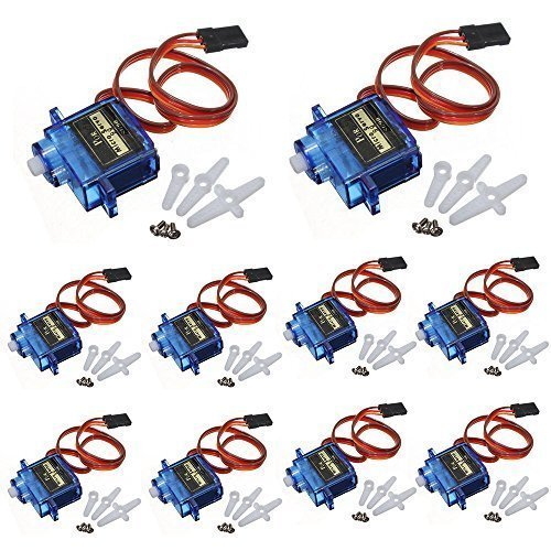 - J-Deal® 10x Pcs SG90 Micro Servo Motor 9G RC Robot Helicopter Airplane Boat Controls