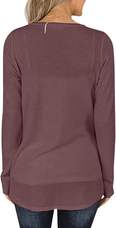 Style Dome Strickpullover Damen Grobstrick Oversize Rundhals Bluse Langarm Longpullover Solid Hoodie Bluse Jumper