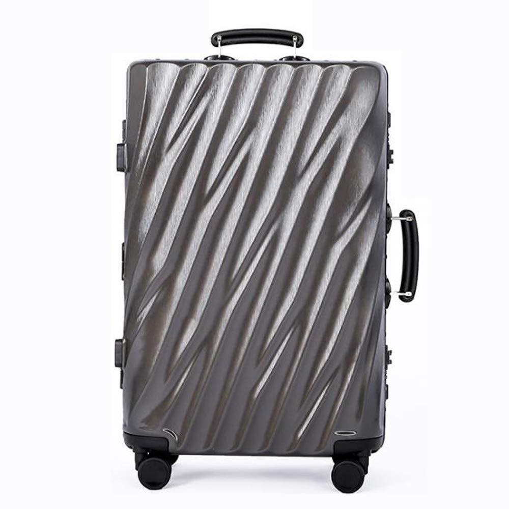 スーツケースの超軽量のABS+PC堅い貝旅行は4つの車輪が付いている小屋手の荷物のスーツケースを続けます。 耐摩耗性、盗難防止、雷保護、搭乗、耐衝撃性ABS+PC B07S2JZ714 Gray