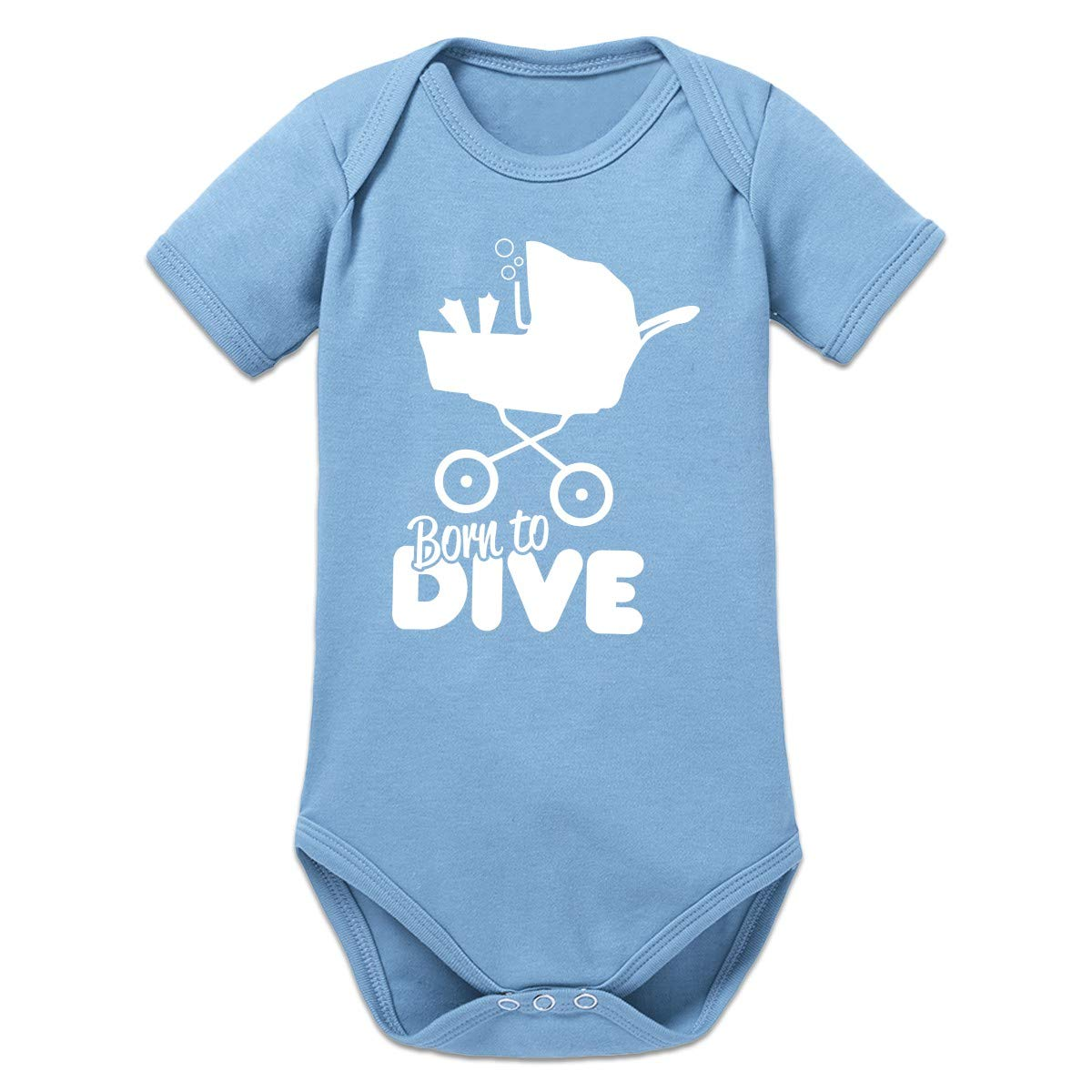 Shirtcity Born To Dive Baby Strampler by