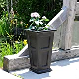 Mayne Fairfield 5829B Tall Planter, 28-Inch by 16-Inch by 16-Inch, Black