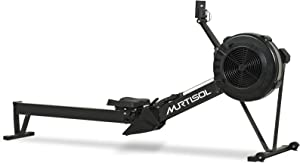 Murtisol Air Resistance Rowing Machine Air Rower 10 Level Adjustable Resistance with Smart Monitor