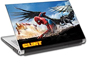 """Spider Man Homecoming Personalized LAPTOP Skin Decal Vinyl Sticker ANY NAME L528, 17"""""""