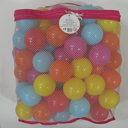 Kids Best Choice High Quality, Versatile & Crush Proof Balls, Made of Phthalate Free and PBA Free plastic. 5 Bright Colors in a Reusable Storage Mesh bag. Indoor & outdoor - Playhouse Balls Fun