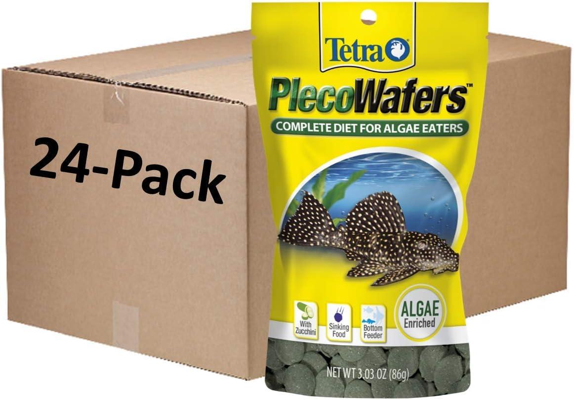 Tetra PlecoWafers Nutritionally Balanced Fish Food For Algae Eaters, Pack of 24