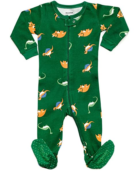 700cd8626d Amazon.com  DinoDee Baby Boys Footed Pajamas Sleeper 100% Cotton Kids Pjs  (6 Months-5 Toddler)  Clothing