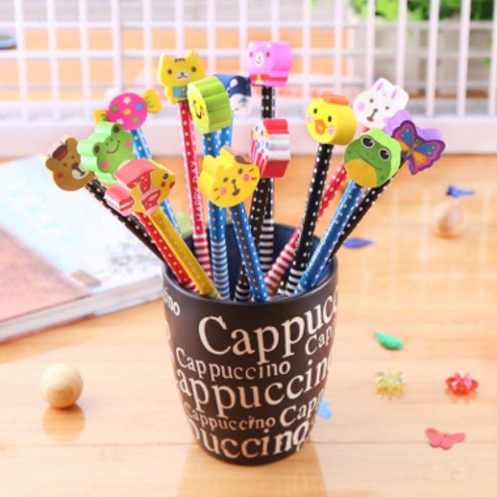 Conjunto de lápices con goma de borrar Syoo, 30unidades, dureza HB, obsequios o regalos para cumpleaños, fiestas, escuela, colores al azar