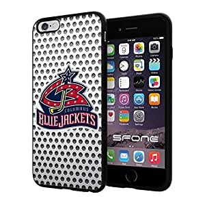 "Columbus Blue Jackets White Net #2157 iPhone 6 Plus (5.5"") I6+ Case Protection Scratch Proof Soft Case Cover Protector by mcsharks"