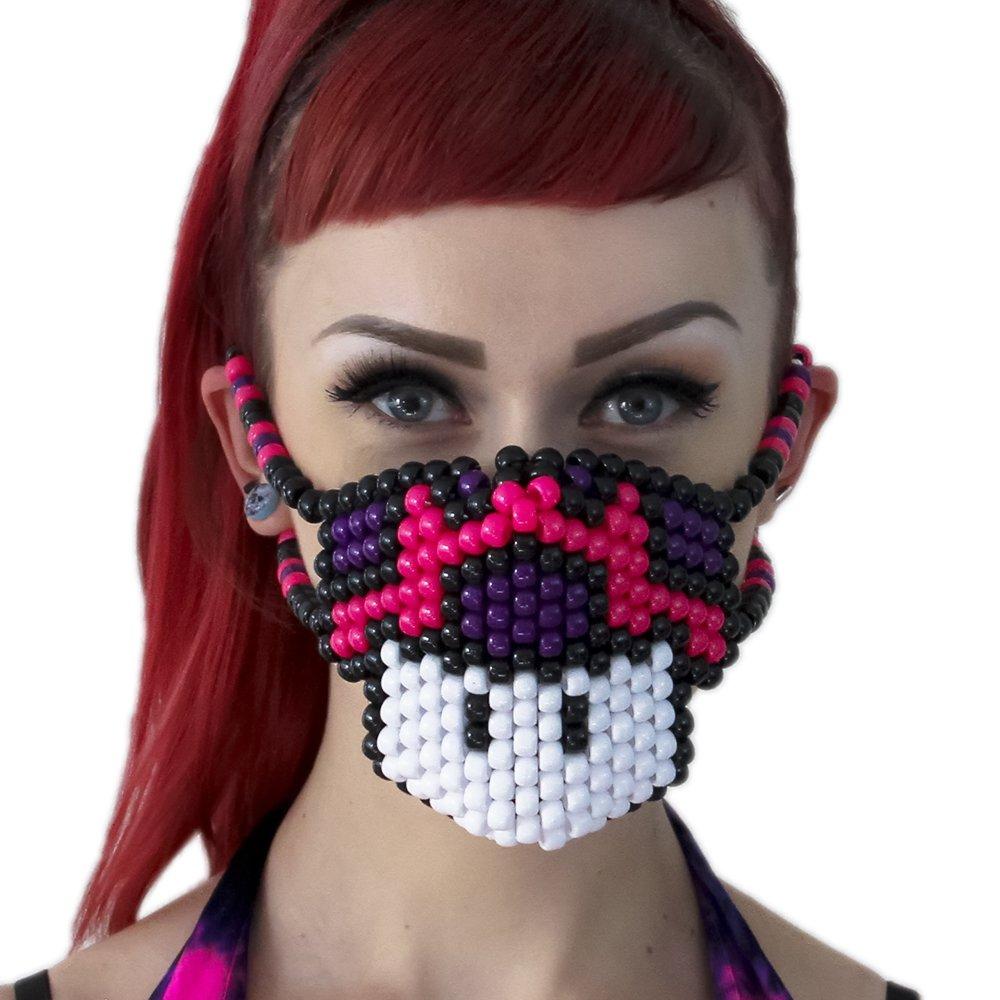 Mario Mushroom Purple Pink Surgical Kandi Mask by Kandi Gear