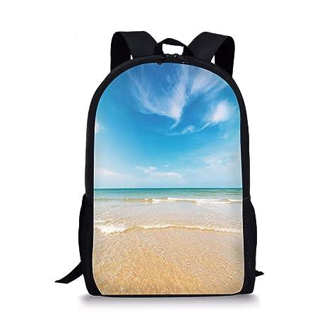790df3e17287 Amazon.com: iPrint School Bags Ocean,Sea and Sky Landscape at the ...