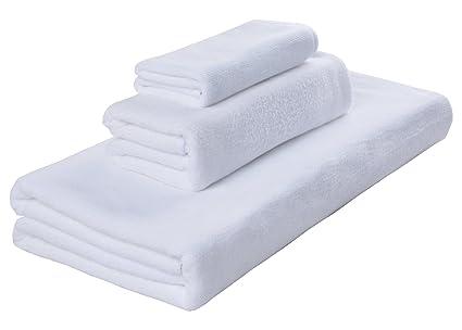 Sinland Toalla antibacteriana de microfibra 3 piezas 1 toalla de baño (70 x 140 cm