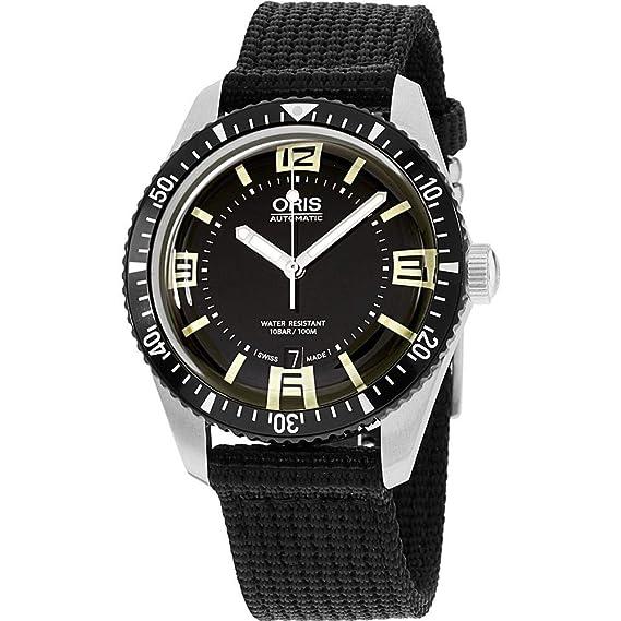 Oris Divers Reloj de Hombre automático 40mm 01 733 7707 4064-TSBLK: Amazon.es: Relojes