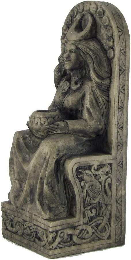 Seated Goddess Statue Stone Finish