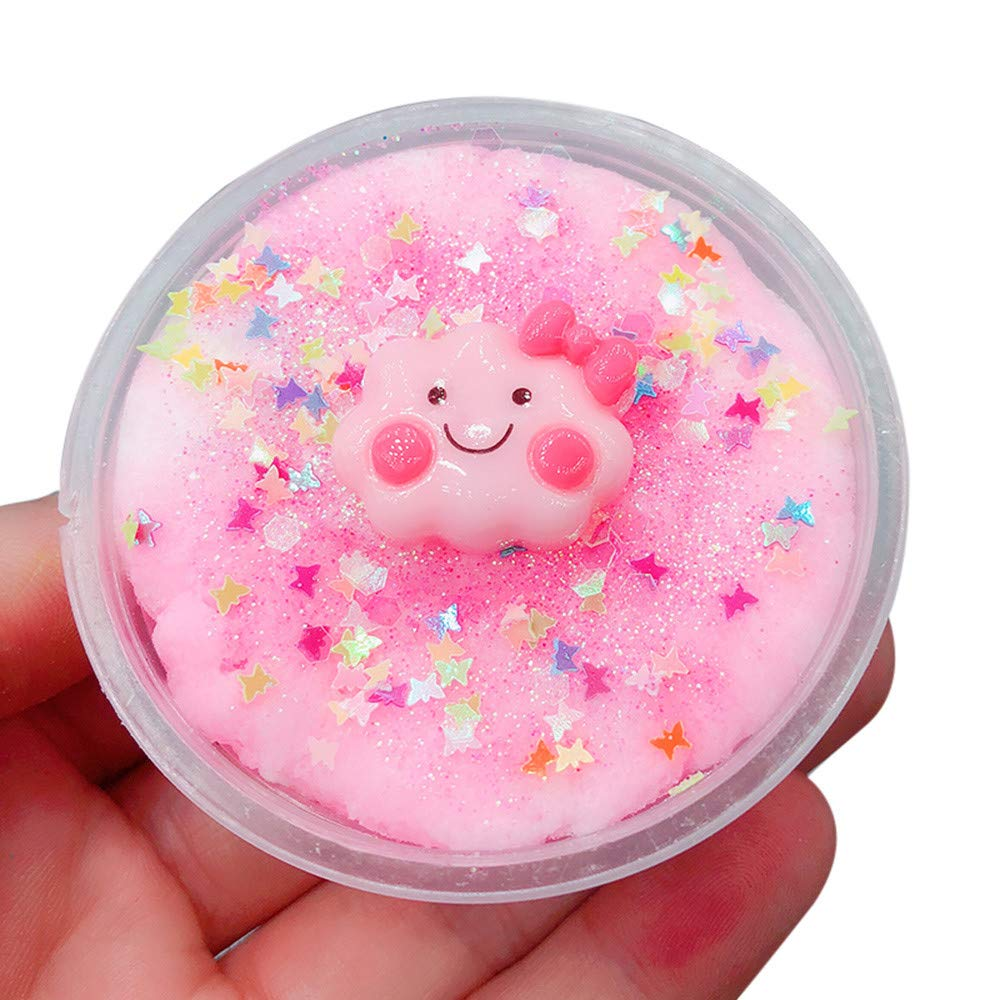 Aobiny 60ML Slime Clouds Mud Fluffy Floam Slime Stress Relief Toy Scented Sludge Toys Gift,for Kids Adult 6 (Pink)