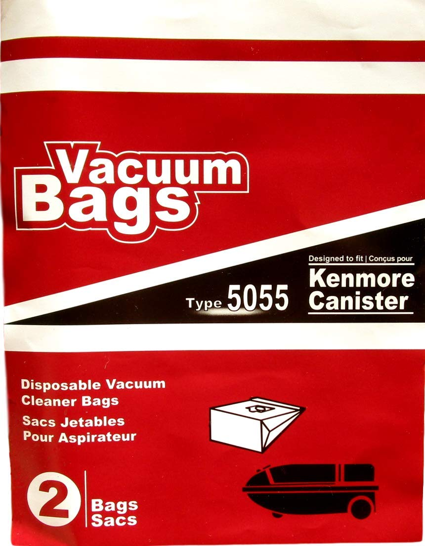 4 Type 5055 Disposable Vacuum Cleaner Bags Compatible with Kenmore Canister