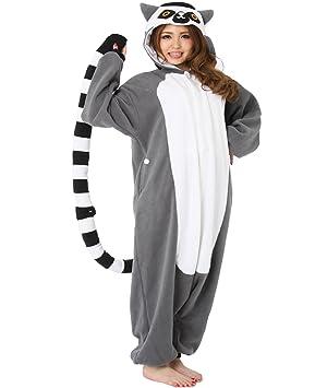 Japan Animals Onesie Madagascar Ring-tailed Lemur Kigurumi Pajamas Lemur  Costume Cosplay 8c550a17f