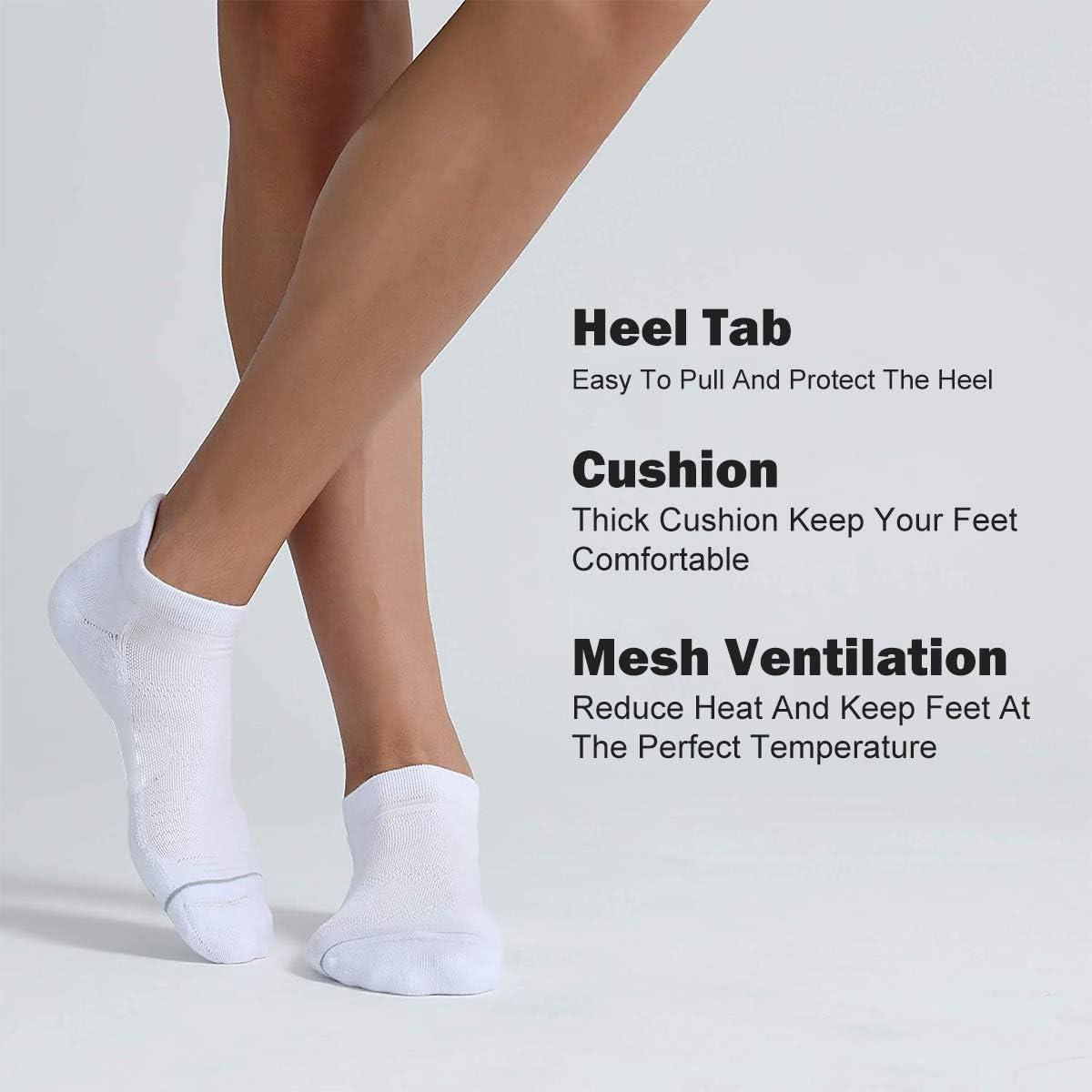FLYFLY Sports Socks Cushioned Trainer Ankle Socks Low Cut Ankle Running Athletic Socks for Men Women