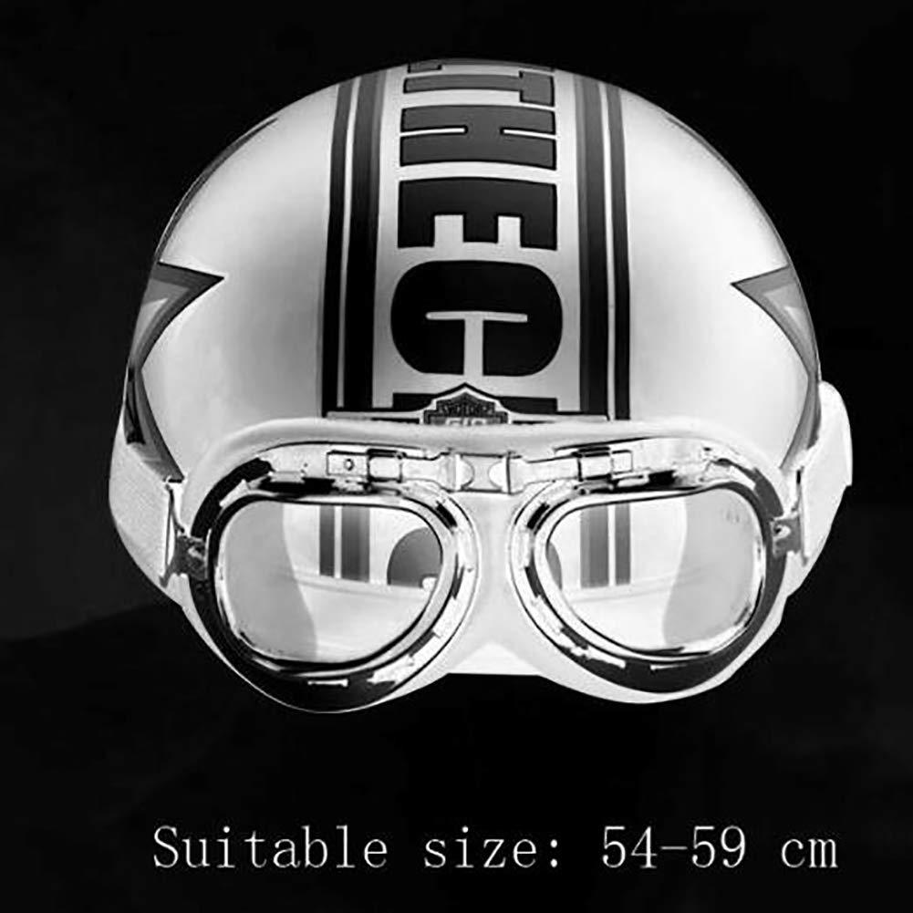 Casque de Cyclisme Moto Tout-Terrain v/éhicule de Moto /électrique Casque de v/élo de Montagne Batterie Casque de personnalit/é de la Mode /équipement de Plein air Unisexe Four Seasons