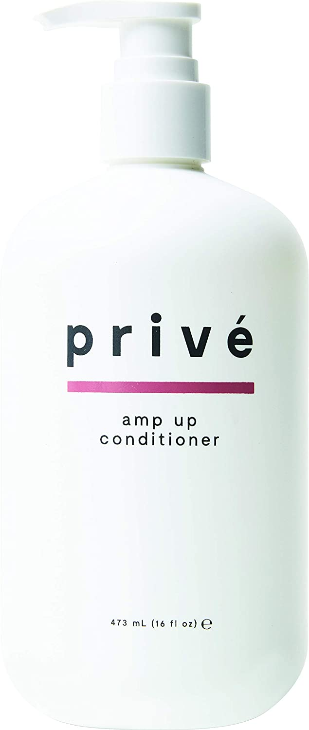 Privé Amp Up Conditioner – Cleansing & Volumizing Conditioner – Baobab Protein Conditioner – Infuse Hair with Weightless Volume and Wonderful Shine While Detangling Those Knots Away (16 oz)