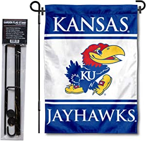 College Flags & Banners Co. Kansas Jayhawks Garden Flag and Flag Stand Pole Holder Set
