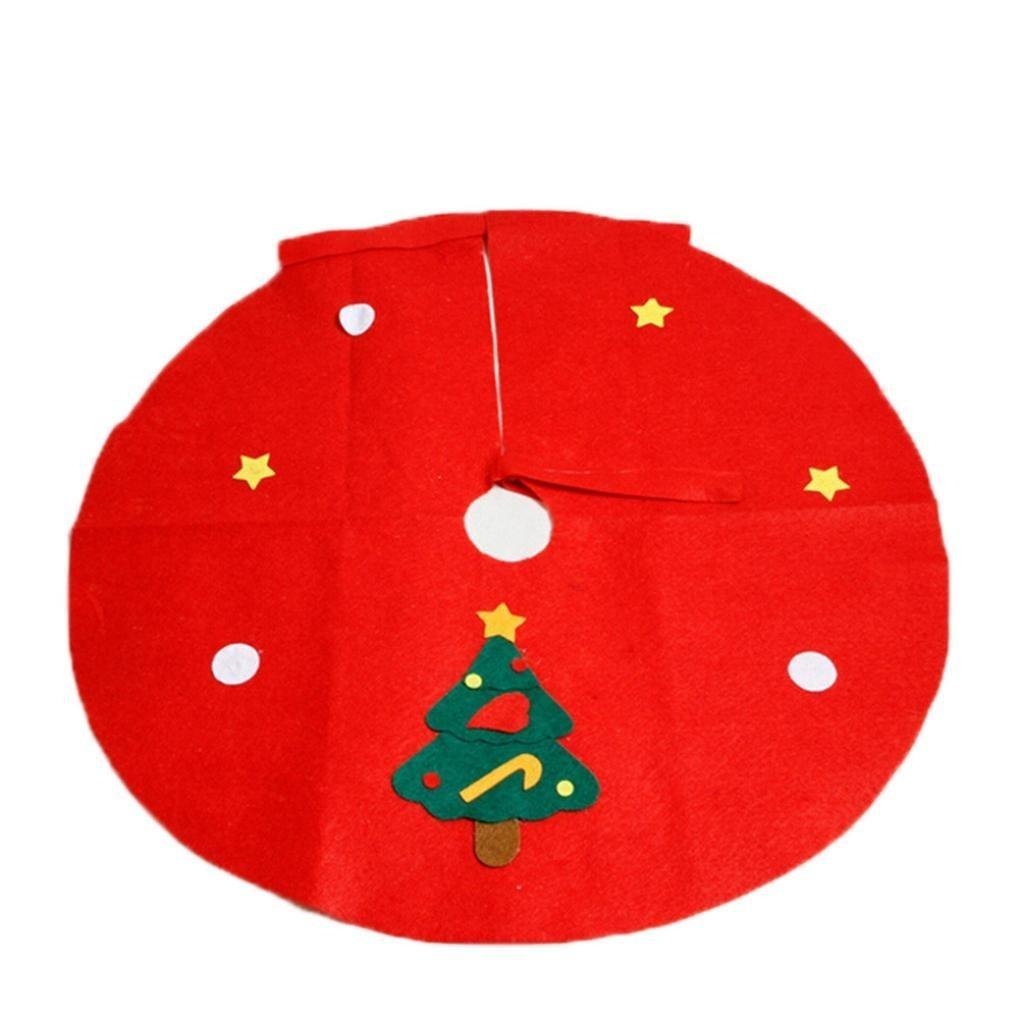Kingko® Christmas Non-woven Christmas Tree Skirts Party Decoration Supplies(S, Christmas Tree)
