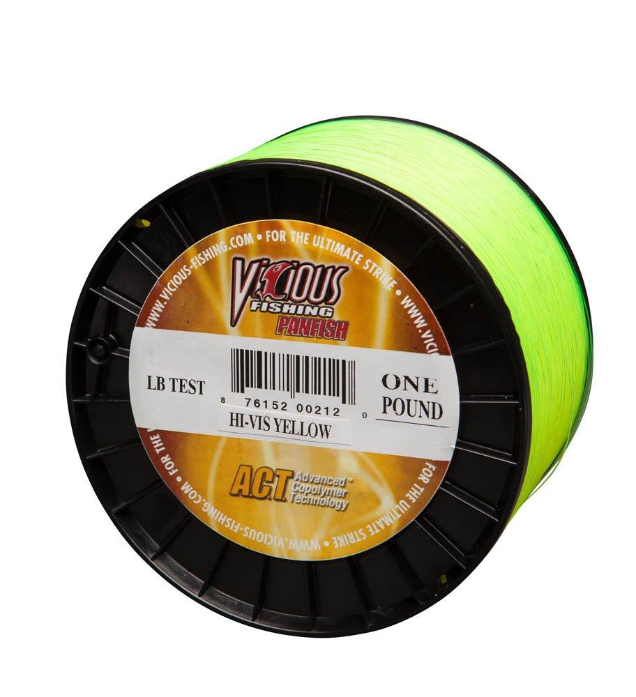 Vicious釣り6 # Panfishライン 2 lb. イエロー(Hi-Vis Yellow) B00X8824O6