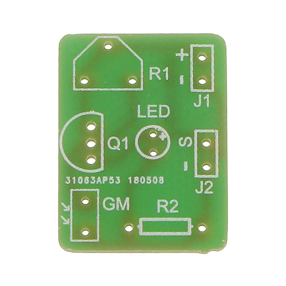 ILS 3 Piezas Interruptor DIY fotosensible inducci/ón electr/ónica Kit m/ódulo Control /óptico Bricolaje Formaci/ón Producci/ón