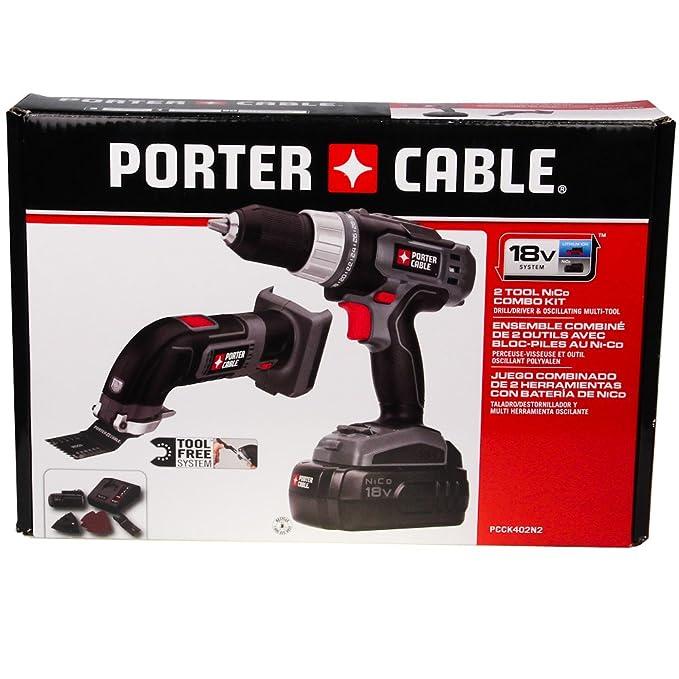 Porter Cable PCCK402N2 18v 2 Tool Combo Kit Drill/Driver & Oscillating Multi-tool NiCd - Power Tool Combo Packs - Amazon.com