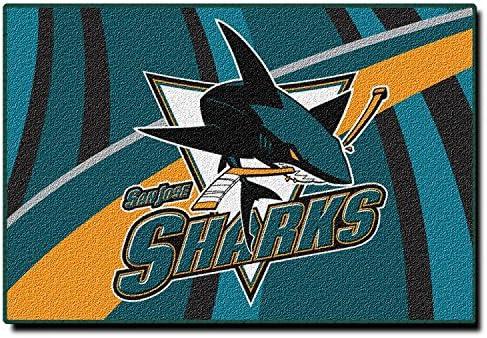 Northwest Enterprises NHL Novelty Rug NHL Team San Jose Sharks