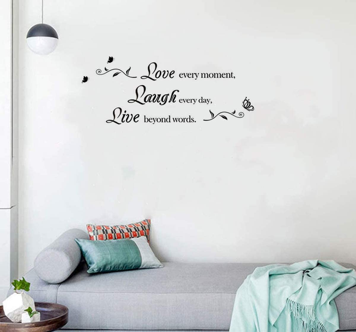 Laugh Every Day Live Beyond Words Wall Decal Removable Sticker Bathroom Home Decor Love Every Moment