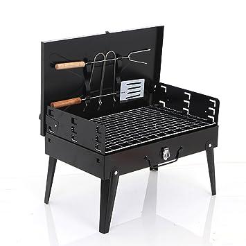 TY&WJ Portátil Plegable Parrilla, Aire libre Barbacoa de carbón Barbecue Herramienta Patio trasero portón trasero