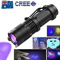 OZSTOCK® UV Ultra Violet LED Flashlight Blacklight Light 395 nM Inspection Lamp Torch