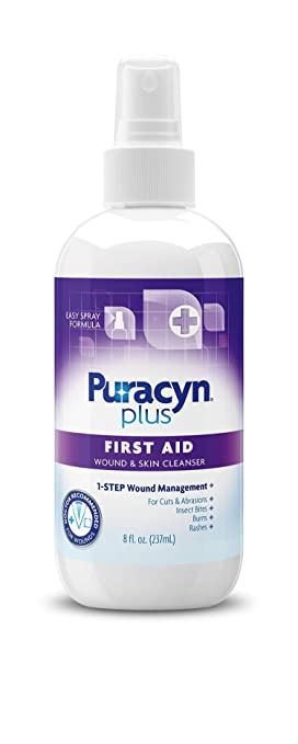 Puracyn Plus Wound and Skin Cleanser – Wound Care Spray for cuts, scrapes,  minor sores, minor burns,