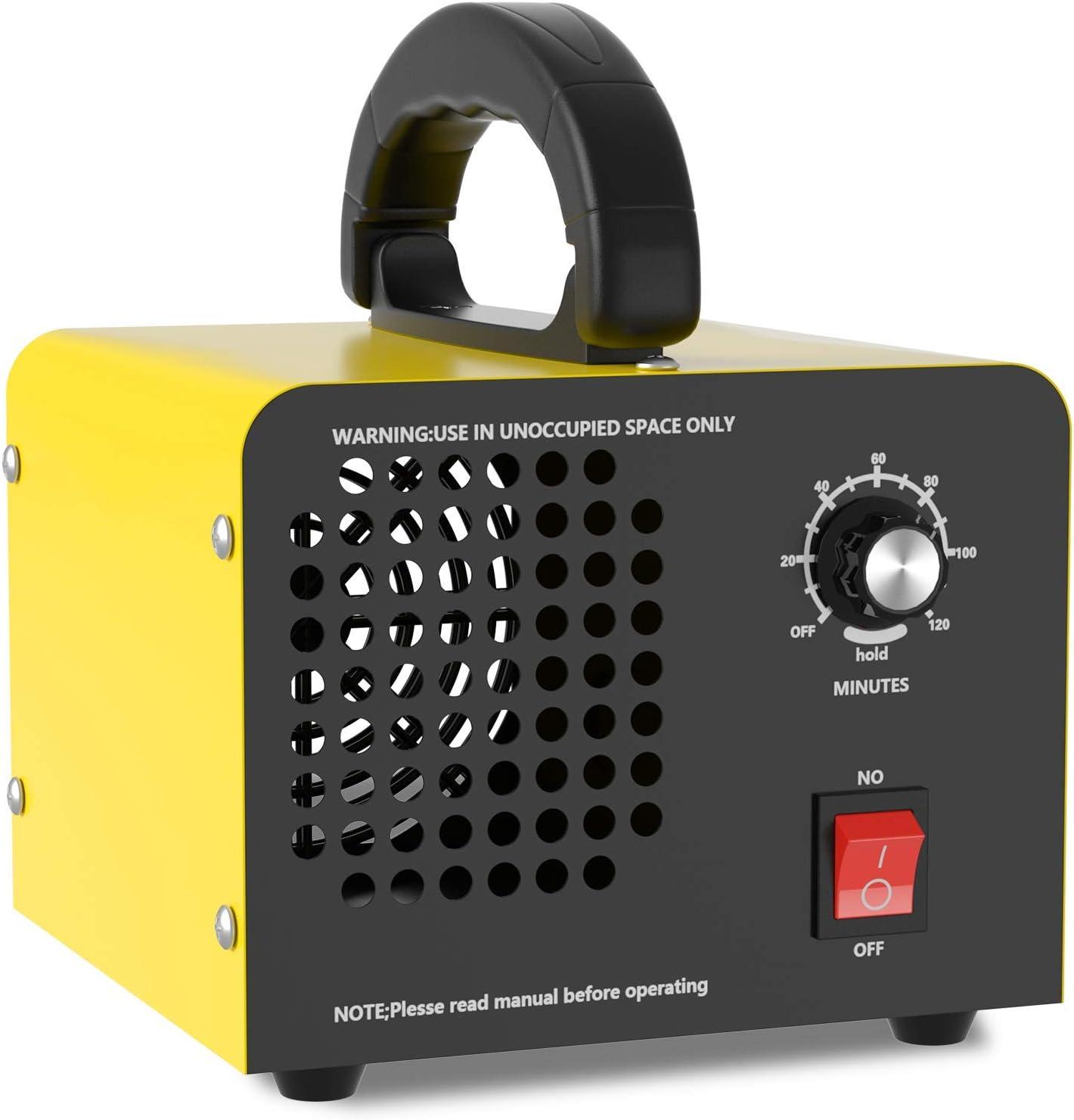Generador de Ozono 10,000mg/H, QUARED Purificador de Aire Desodorizador de Ozono para Habitaciones, garajes, Granjas, hoteles, Limpia hasta 300㎡