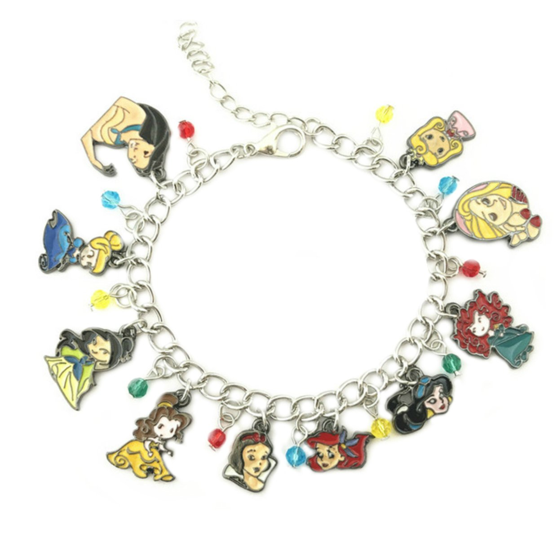 Wristlet Movie Collection Princesses Charm Bracelet Movie Series Jewelry Multi Charms