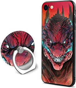 GONGXIFACAI888 Angry Godzilla Unisex Thinest iPhone 7 8 Case Hard PC Mobile Phone Back Cover Shell Protect with Mobile Phone Holder for 4.7 Inch Apple 8 7