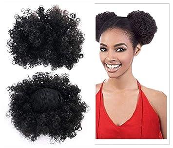 Amazon Com 2pc Small Women Black African American Short Hair Buns